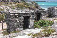 mayan mexico fördärvar tulum Arkivfoto