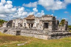 mayan mexico fördärvar tulum Arkivbilder