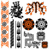 mayan modeller stock illustrationer