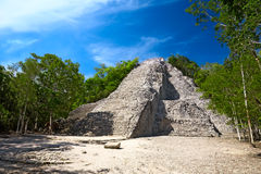 Mayan Nohoch Mul pyramid in Coba Stock Photography