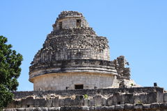 Mayan observatory. As part of the archaeological site of chichenitza, in yucatan, mexico stock photography