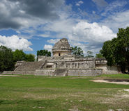 Mayan Observatory in Chichen Itza Royalty Free Stock Photos