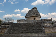 The Mayan observatory in Chichen Itza Stock Image