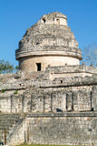 Mayan observatory ruin at Chichen Itza Stock Photography