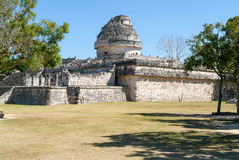 Mayan observatory ruin at Chichen Itza Royalty Free Stock Photos