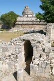 Mayan observatory ruin at Chichen Itza Stock Photos