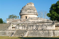 Mayan observatory ruin at Chichen Itza Stock Image