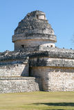 Mayan observatory ruin at Chichen Itza Royalty Free Stock Images