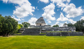 Mayan observatory ruins at Chichen Itza - Yucatan, Mexico Stock Images