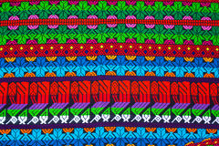 Mayan ornament on a blanket at Chichicastenango market Stock Photo