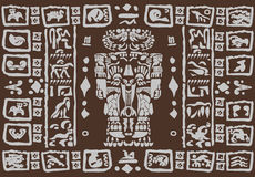 Mayan ornaments Royalty Free Stock Image