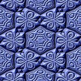 Mayan ornaments seamless hires generated texture Royalty Free Stock Images