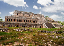 Mayan Palace in Sayil Yucatan Mexico Royalty Free Stock Image