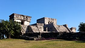 Mayan Palace at Tulum. Remains of a Mayan Palace at Tulum, Quintana Roo, Mexico Stock Photos