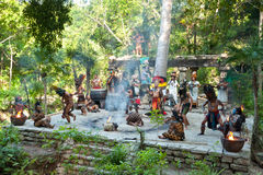 Mayan performance in the jungle Royalty Free Stock Image