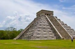 Mayan piramide royalty-vrije stock foto's