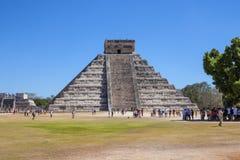 Mayan Piramide in Chichen Itza, Yucatan, Mexico Stock Afbeeldingen