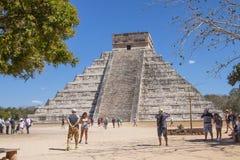 Mayan Piramide in Chichen Itza, Yucatan, Mexico Royalty-vrije Stock Afbeeldingen