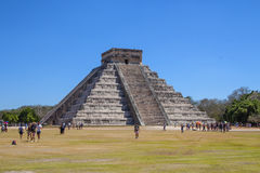 Mayan Piramide in Chichen Itza, Yucatan, Mexico royalty-vrije stock foto