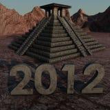 mayan piramide van 2012 stock illustratie