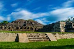 Mayan Piramide van Tazumal Stock Foto