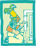 Mayan Plumber Royalty Free Stock Photography