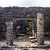 Mayan Portaal in Tulum Stock Foto
