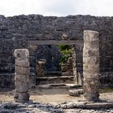 Mayan Portal at Tulum Stock Photo