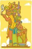 mayan präster Arkivfoto