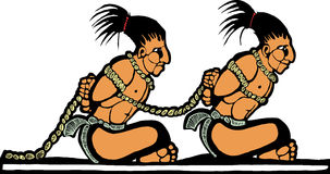 Mayan Prisoners Stock Photo