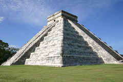 Mayan pyramid. Most famous mayan pyramid of El Castillo, in archaeological site of Chichen Itza, Mexico Stock Images