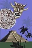 Mayan Pyramid. Background illustration with antique Mayan Pyramid Royalty Free Stock Photos