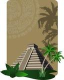 Mayan Pyramid. Background illustration with antique Mayan Pyramid Royalty Free Stock Image