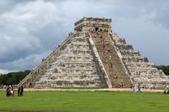 Mayan Pyramid. At Chichen-Itza Royalty Free Stock Photography