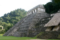 Mayan pyramid. Old pyramid on maya site in Mexico Royalty Free Stock Photo