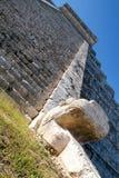 Mayan pyramid av Kukulcan El Castillo i Chichen Itza Arkivbild