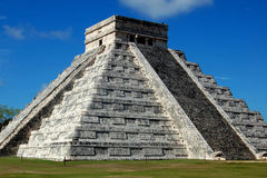 Mayan Pyramid at Chichen Itza Stock Image