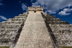 Mayan Pyramid at Chichen Itza Stock Images