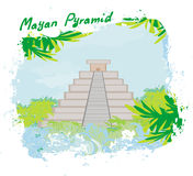 Mayan Pyramid, Chichen-Itza, Mexico Royalty Free Stock Photo