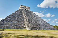 Mayan pyramid in Chichen-Itza, Mexico Stock Photo