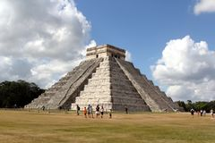 Mayan Pyramid Chichen Itza, Yucatan, Mexico. Mayan Pyramid Chichen Itza, Yucatan. Ancient, chichenitza. Chichen Itza is one of the most visited archaeological stock photo