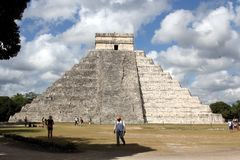 Mayan Pyramid Chichen Itza, Yucatan, Mexico. Mayan Pyramid Chichen Itza, Yucatan. Ancient, chichenitza. Chichen Itza is one of the most visited archaeological royalty free stock photos
