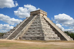 Mayan Pyramid in Chitchen Itza Stock Image