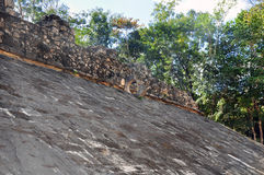 Mayan pyramid, Coba, Mexico Royalty Free Stock Images