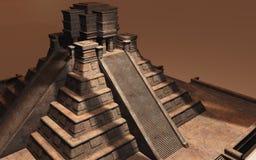 Mayan Pyramid Illustration Stock Photos