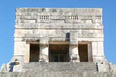 Mayan pyramid of Jaguares in Chichen Itza Royalty Free Stock Photography