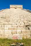 Mayan pyramid of Kukulcan El Castillo in Chichen Itza Stock Image