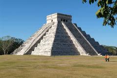 Mayan pyramid of Kukulcan El Castillo in Chichen Itza Royalty Free Stock Photo
