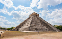Mayan pyramid of Kukulkan in Chichen Itza, Mexico Royalty Free Stock Image