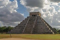 Mayan Pyramid of Kukulkan. El Castillo, Chichen Itza, Mexico Royalty Free Stock Image